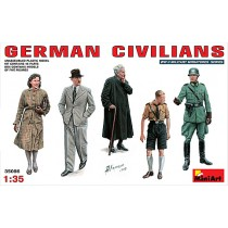 German Civilians. 5 figures