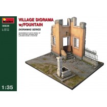 Village Diorama with Fountain