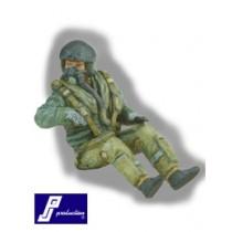 RAF pilot, seated, modern