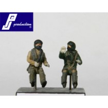 RAF pilots, seated, modern, 2 pcs.