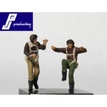US pilots, standing, WWII, 2 pcs.