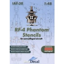 RF-4E Phantom complete stencil data for one camouflaged aircraft 2 decal sheets