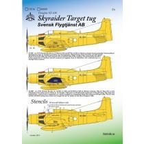 Skyraider Target Tug Svensk Flygtjänst AB NY UTGÅVA I HÖST