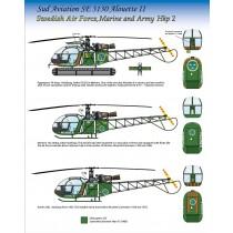 Hkp2 Alouette II, Flygvapnet, Marinen & Armèn