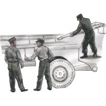 German WWII personnel for 1/72  Meillerwagen