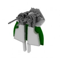MG 131 mount for Fw190D-9 (for use w. Eduard kits)