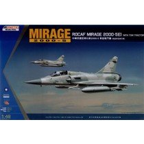Mirage 2000-5 EI ROCAF w. Tow Tractor