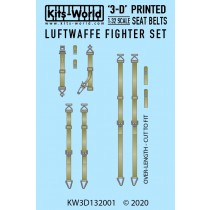 Luftwaffe Fighter Seat Belt Set. Full Colour 3D WWII decals.