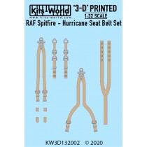 RAF Spitfire / HUrricane Seat Belt Set. Full Colour 3D WWII decals.