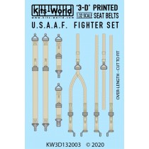 USAF Fighter Seat Belt Set. Full Colour 3D WWII decals.