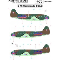 C-46 Commando decals BOAC SEE INFO