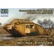 Mk.I Male British Tank. Somme 1916