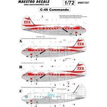 C-46 Commando decal TransAir SEE INFO