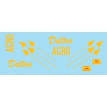 SAAB J35 Draken Acro Deltas logo & FARA-signs