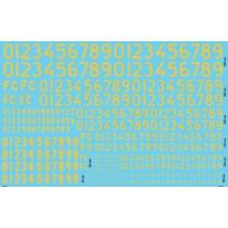 Siffror F1281 gula 1964