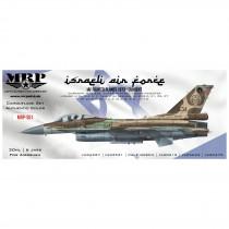 Israeli Air Force set, modern. 6 x30 ml + 1/48 paint masks BOKA