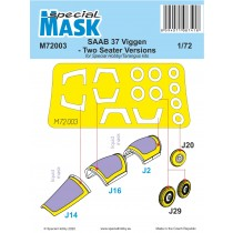 SAAB 37 Viggen two-seater paint mask SE INFO