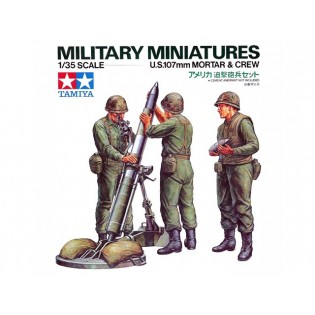 US 107mm mortar and crew