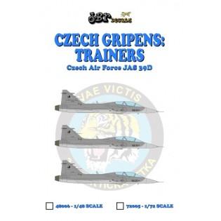Czech Gripens: Trainers JAS39D #9819 + #9820 + 10000 hours tail + canards (9819)