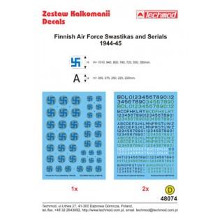 Finnish Air Force swastikas & serials 1944-45