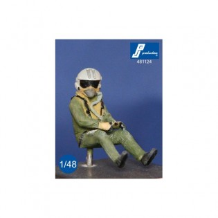 Rafale pilot, seated in a/c