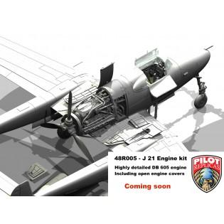 SAAB J21 Motor superdetaljerad COMING