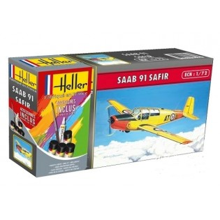 SAAB Sk50 Safir med färg, pensel o lim.