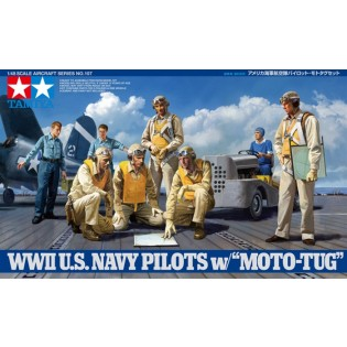 WWII USN Pilots with tug