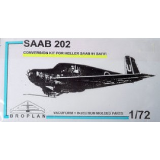 SAAB 202 conversion for Heller Safir (J32 Lansen wing)