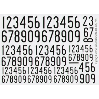 Svarta siffror 1936-62, smala