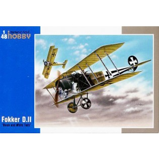Fokker D.II Black and white tails