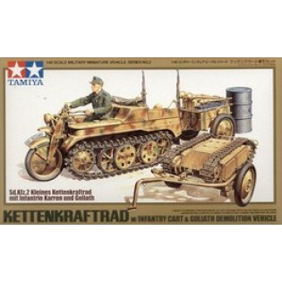 Ketterkraftkrad w. infantry cart and Goliath demolition wvehicle