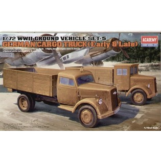 German Cargo Truck, late and earl