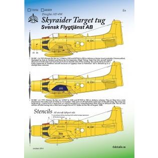 Skyraider Target Tug Svensk Flygtjänst AB NY UTGÅVA