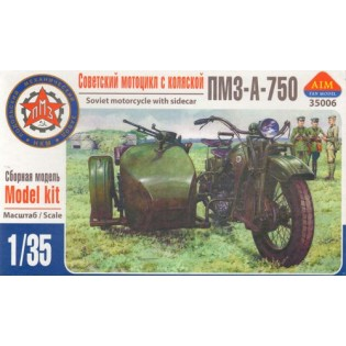 Russian PMZ-A-750 motorcycle w. sidecar