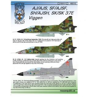 SAAB AJ/AJS, SF/AJSF, SH/SJSH, Sk37 Viggen