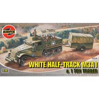 White Half-Track M3A1 + trailer