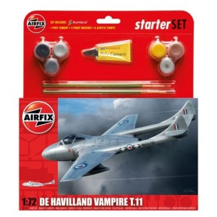 Vampire T.11 Starter Set incl paints, brushes & cement (FV Sk28)