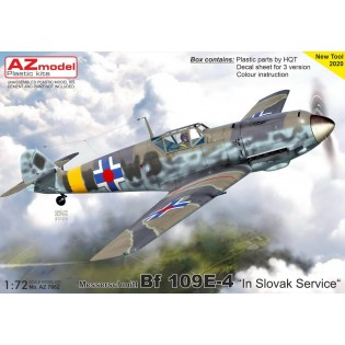 Bf109E-4 in Slovak service NEW TOOL
