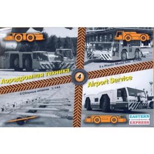 Airport service, set 4. 3 aircraft towing vehicles