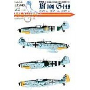 Bf109G-14, Yellow 10 JG77, Black 8 III/JG4, Blue 3 4/JG77, White 21 II/JG52