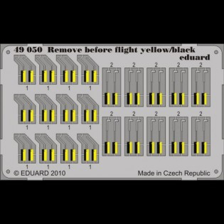 Remove Before Flight tags/ RBF tags - yellow/black