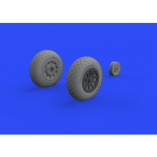P-51D-5 Mustang wheels oval tread (for Eduard kits)