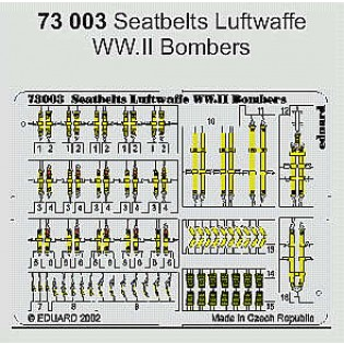 Seatbelts Luftwaffe bombers WWII