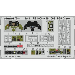 SAAB J35F/J Draken interior 2 sheet