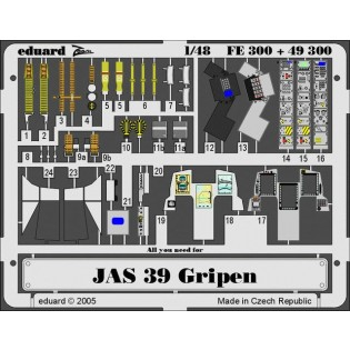 JAS39 Gripen, 3 fotoets-ark varav 1 målat ITA