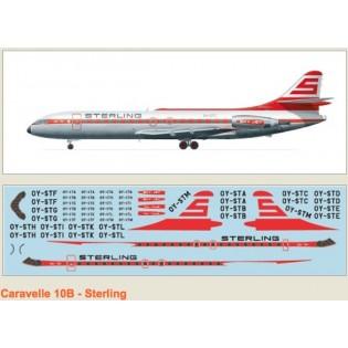 Caravelle 10B. Dekaler för Sterling