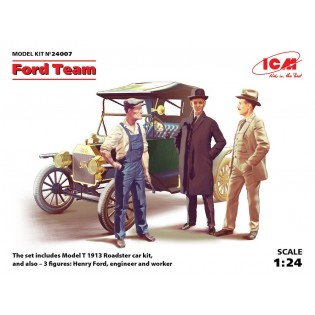 Ford Team: Model T 1912 Roadster + 3 figures