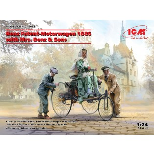 Benz Patent-Motorwagen 1886 with Mrs. Benz & Sons 100% new molds