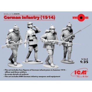 German Infantry 1914 (4 x Figures)
